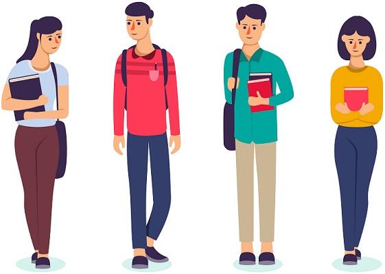 Студенты идут в университет